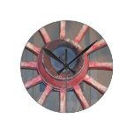 Wagon Wheels Round Clock