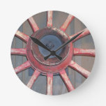 Wagon Wheels Round Wallclocks