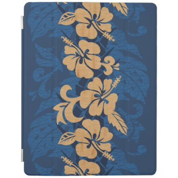 Waikoloa Faux Wood Hawaiian Hibiscus Floral iPad Smart Cover