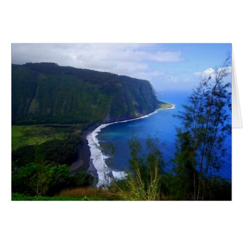 Waipio Valley Lookout, Hawaii, Card card