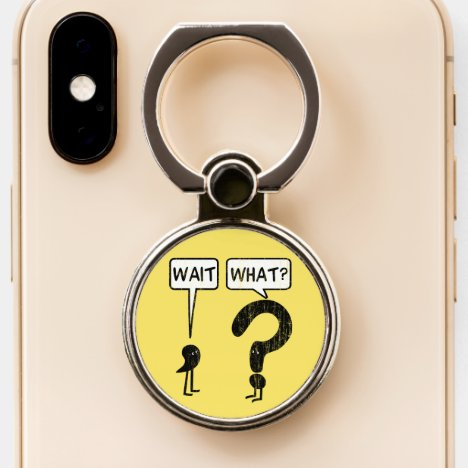Wait, What? Yellow Phone Ring Stand