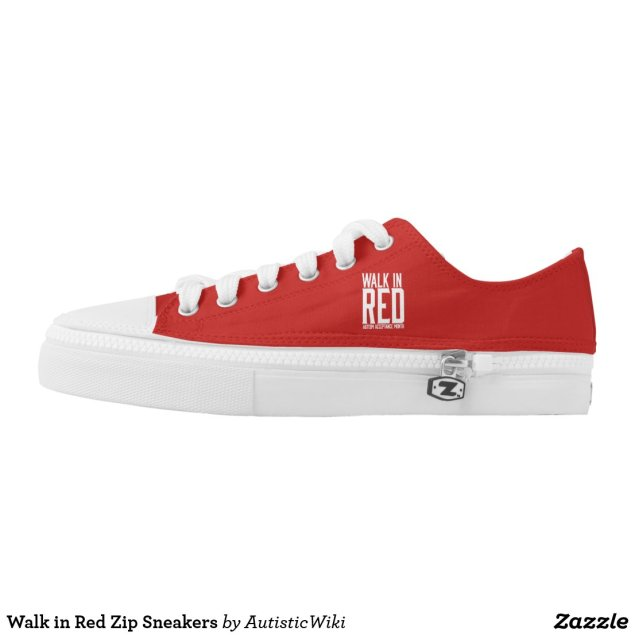 Walk in Red Zip Sneakers