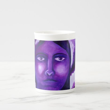 Watching, Abstract Purple Goddess Compassion Tea Cup