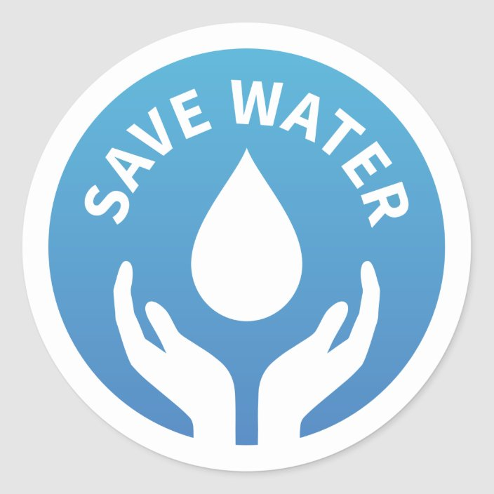 Water Conservation Save Water Badge Sticker Zazzle Com