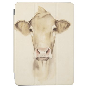 Watercolor Barn Animals | Cow iPad Air Cover