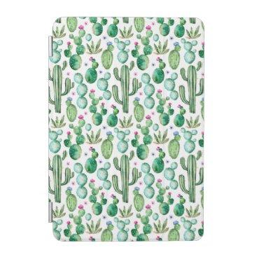 Watercolor Cactus Plants Pattern iPad Mini Cover