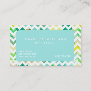 Watercolor Chevron Hairstylist Appointment
