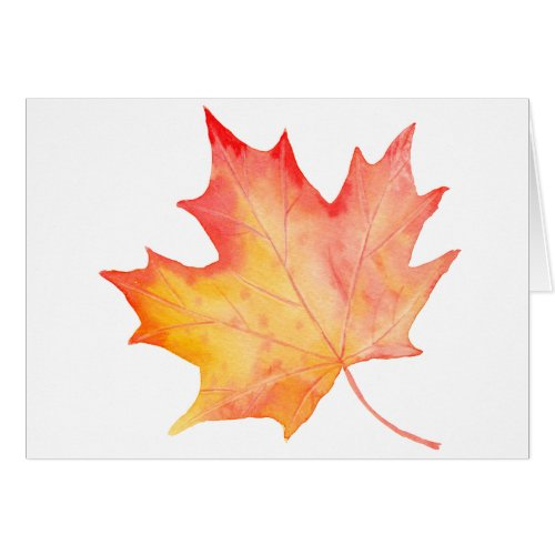 Watercolor Golden Maple Leaf