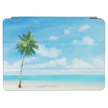 Watercolor grunge image of beach iPad air cover