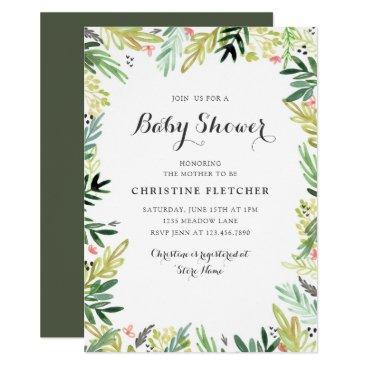 Watercolor Meadow Baby Shower Card