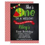 ❤️ Watermelon Birthday Invitation, Chalkboard Invitation