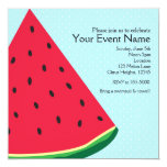 Watermelon Blue Fun Summertime Birthday Party Invitation