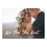 We Tied the Knot | Photo Elopement Announcement