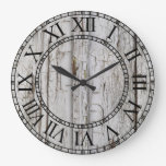 Weathered White Wood - Custom Clock