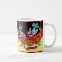 Wedding Bird Bliss Ukrainian Folk Art Coffee Mug