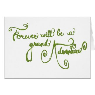 Wedding Card - A Grand Adventure (green)