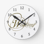 Wedding clock elegant luxe