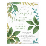 Wedding Couple's Shower Watercolor Foliage Invitation