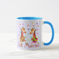 Wedding Giraffes Mug