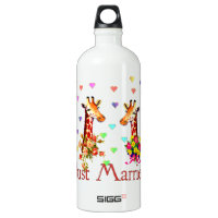 Wedding Giraffes Water Bottle