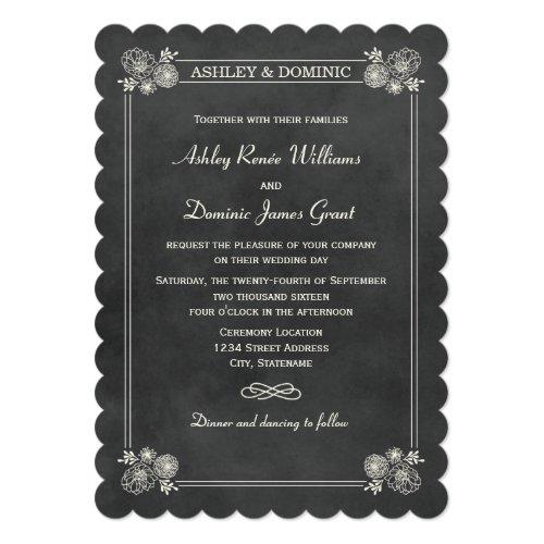 Wedding Invitations   Vintage Chalkboard Design