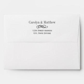 Wedding Rsvp Envelopes Printed Address