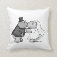 Wedding Pillow with Bride and Groom