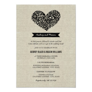 Wedding Rehearsal And Dinner Invitations 5
