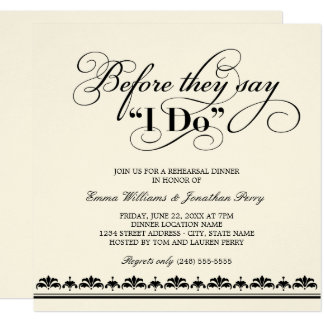 Wedding Rehearsal Dinner Invitation Vows