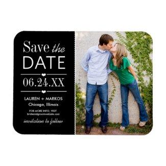 Wedding Save the Date Magnet   Modern Love