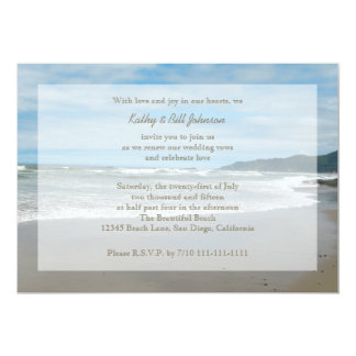 Wedding Vow Renewal By The Beach Card