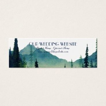Wedding Website Cards - Camping Wedding