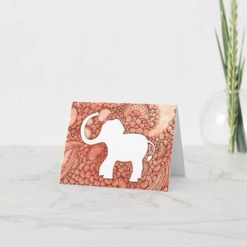 Wee Elephant - original art note card