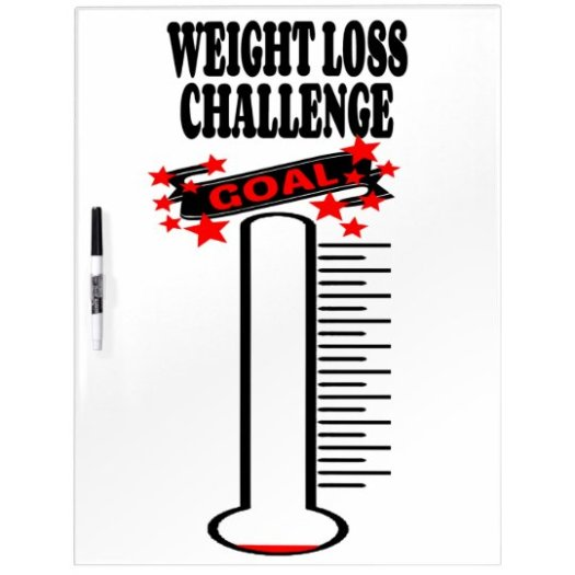 Weight Loss Goal Thermometer BLANK Dry Erase Board ...
