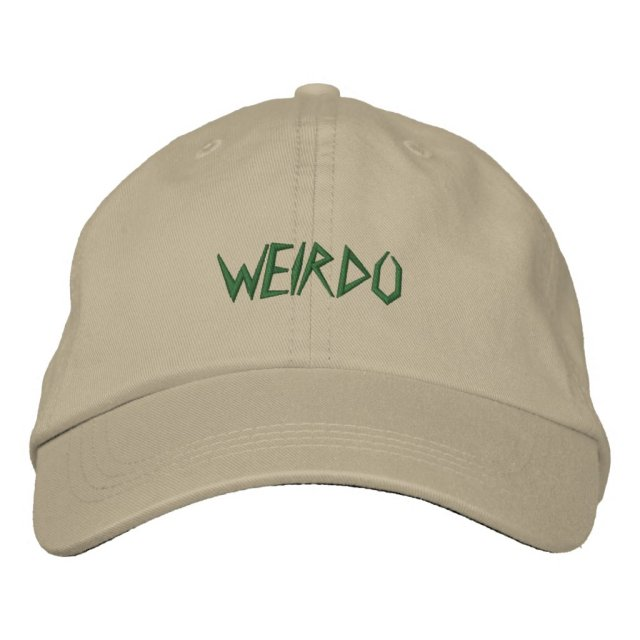 WEIRDO EMBROIDERED BASEBALL HAT