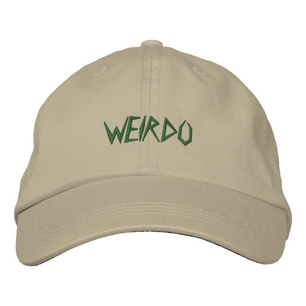 WEIRDO EMBROIDERED BASEBALL HAT