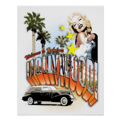 welcome to hollywood print