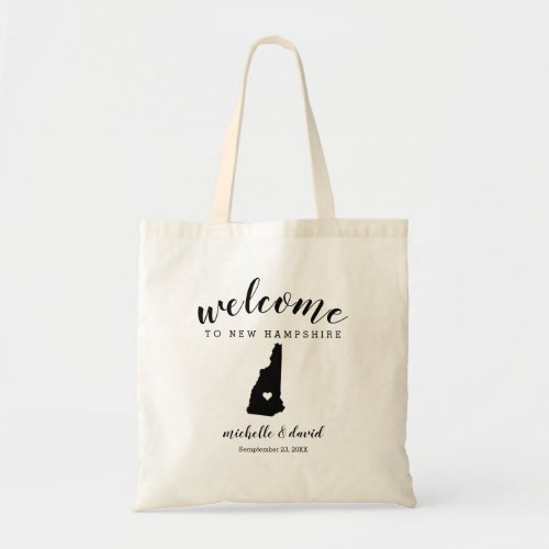 Welcome to New Hampshire State Silhouette Wedding Tote Bag