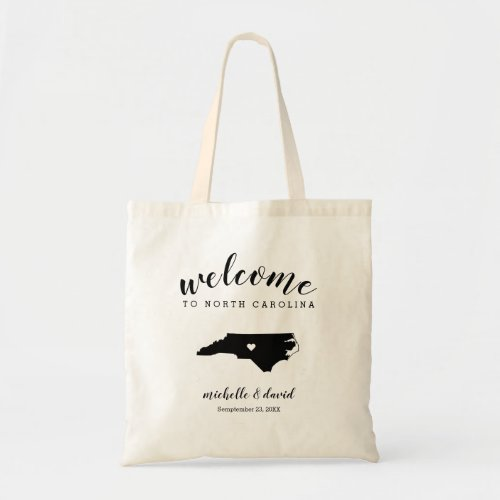 Welcome to North Carolina Silhouette Wedding Tote Bag