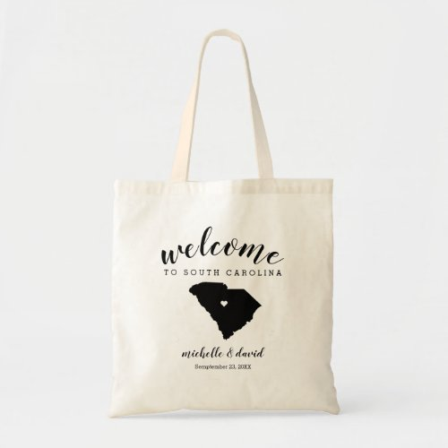 Welcome to South Carolina State Silhouette Wedding Tote Bag