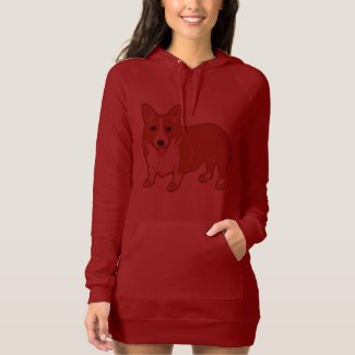 Welsh Corgi Women's Hoodie Dress