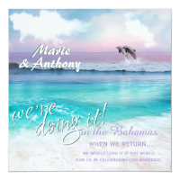 WE'RE Doing IT BEAUTIFUL TROPICAL OCEAN SUNRISE Card