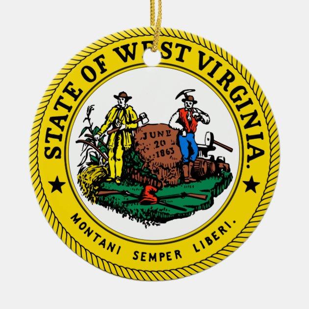 West Virginia Christmas Ornament Zazzle