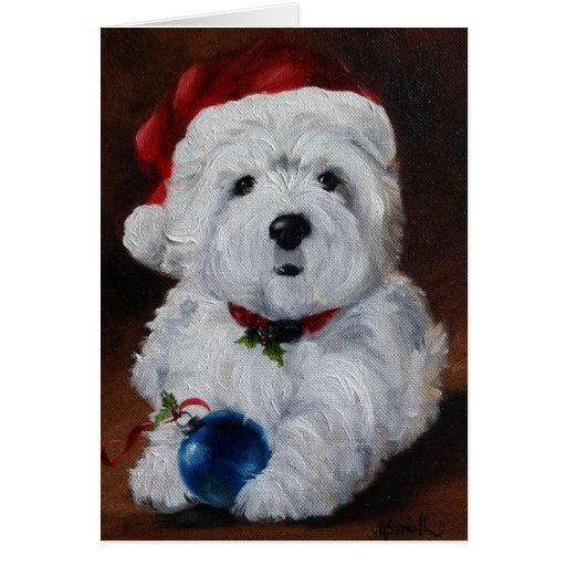 Westie West Highland Terrier Merry Christmas Card Zazzle