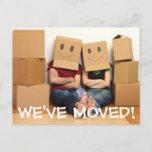 ❤️ We've Moved Change Of Address Postcard