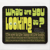 What are you looking at? Christian purity mousepad