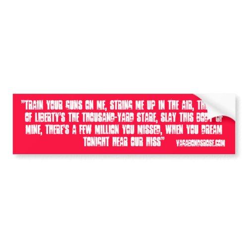 """Tea Party bumper stickers"", ""The Gadsden Flag"", ""Don tread on me"", lyrics"