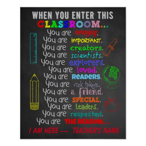 When You Enter This Classroom Rules Poster Zazzle