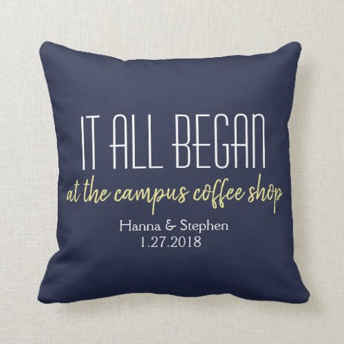 Where it All Began Love Story Pillow (also in white)