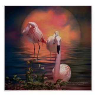 Where The Wild Flamingo Grow Poster/Print